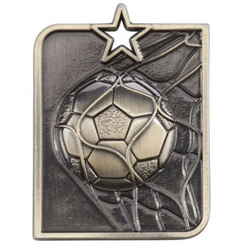 Centurion Star Series Football Medal Gold 53x40mm